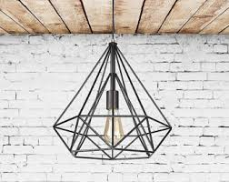 Cage Pendant Light Cage Light Etsy