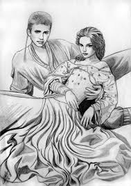 anakin and padme in the meadow by acrosstars22 on deviantart