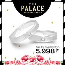 harga cincin jewelry wedding ring special price by the palace jeweler bridestory