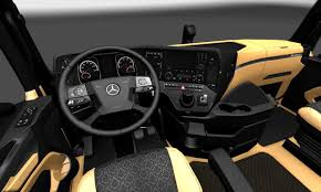 the luxury interior for mercedes benz new actros 1 27 x interior