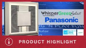 whisper green select fan whisper green select from panasonic youtube