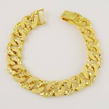 jewelry man gold bracelet images Jh086 new arrival top grade gold jewelry men simple trendy plated jpg