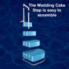 wedding cake pool steps above ground pool steps bargain pool supplies