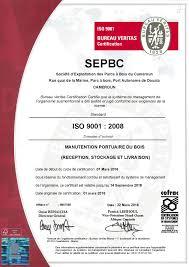 bureau veritas cameroun cameroun sepbc certifiée iso 9001 dans le management de la qualité