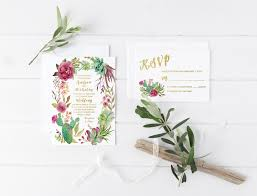 Succulent Wedding Invitations Cactus Wedding Invitation Succulent Wedding Invitation Marsala