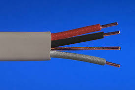 three core u0026 earth cable grey