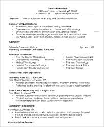 pharmacy technician resume template 10 pharmacy technician resume templates pdf doc free premium