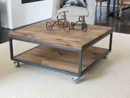 coffee tables industrial wood and metal end tables awesome