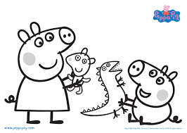 peppa pig coloring pages fun for the kids pinterest free