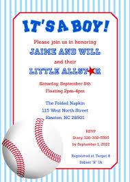 baby shower invitations chic baseball baby shower invitations