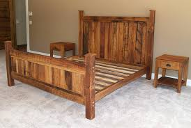 Wooden Framed Beds Rustic Wood Bed Frame Without Headboard And Shower For Beds Inside