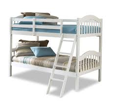 amazon com 4pc solid pine queen size bed complete white bunk bed the best design feifan furniture