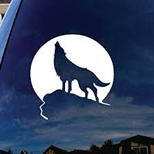 amazon com howling wolf moon car window vinyl decal sticker 5