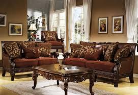 Chocolate Living Room Set Ortona Chocolate Chenille Sofa By Homey Design 301 S