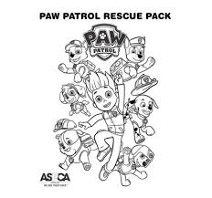 nickelodeon coloring book paw patrol coloring page rescue pack paw patrol party