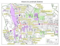 Pasadena Ca Map Historic And Landmark Districts Map Planning U0026 Community Development