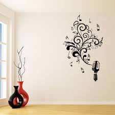musical microphone wall sticker world of wall stickers musical microphone wall sticker decal a
