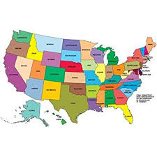 map of us states poster blank united states map glossy poster picture photo