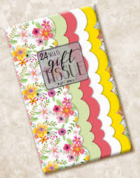 floral tissue paper blueink studios floral scalloped tissue paper