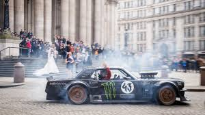 hoonigan mustang interior matt leblanc ken block and the hoonicorn take over london top gear
