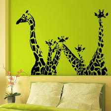 online get cheap safari wall mural aliexpress com alibaba group animal giraffe vinyl wall decal giraffe jungle safari african animal mural wall sticker removeable bedroom home