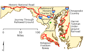 maryland byways map maryland map america s byways