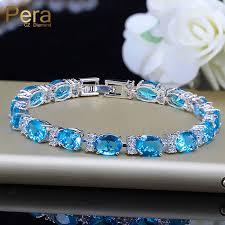 tennis blue bracelet images Pera fashion summer style light blue stone tennis bracelet for jpg