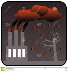 factory generating toxic air pollution and acid rain stock