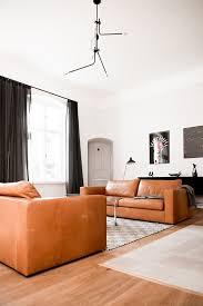 Pinterest - Leather sofa interior design