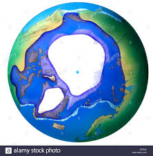 North Pole Map Map North Pole Stock Photo Royalty Free Image 40113086 Alamy