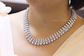 crystal bridal necklace sets images Cwwzircons luxury 2018 nigerian wedding accessories african cz jpg