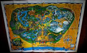 Disney Park Maps Disney Musings Disneyland Park Map Circa 1968