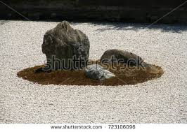 Rock Zen Garden Rock Zen Garden Ryoanji Temple Kyoto Stock Photo 723106096