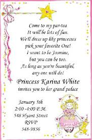 tea party birthday invitation wording cimvitation