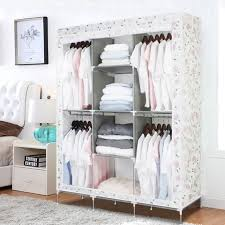 rangement vetement chambre finether armoire de rangement penderie de vêtement pliable 182 x