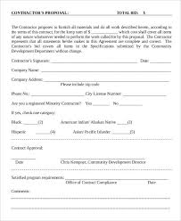 9 contractor proposal templates free sample example format