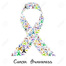 colorful ribbon cancer awareness various color and shiny ribbons for help like