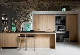 rustic modern kitchen ideas brown wooden top grey color granite