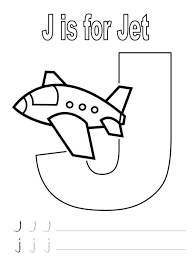alphabet coloring page j for jet alphabet coloring pages of