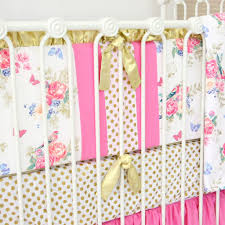 Bright Pink Crib Bedding by Olivia Bright Boho Crib Bedding Set By Caden Lane