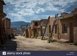 adobe houses adobe houses sky city acoma pueblo new mexico stock photo