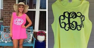 Comfort Colors Tank Tops Comfort Colors Personalized Boyfriend Tank Top With Large Monogram