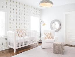 white and tan gender neutral nursery transitional nursery