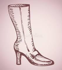 s boots with heels s boots with heels vector drawing stock vector image