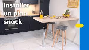comment installer une cuisine comment installer une table murale dans la cuisine castorama