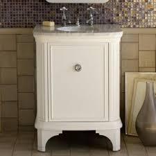 dainty white bathroom vanities emulate dressing tables