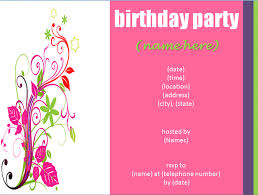 birthday party invitations looking birds in the clouds birthday party invitation template