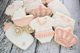 rose gold baby shower cookies royal baby shower baby shower