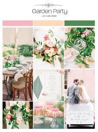 garden party wedding inspiration board color palette mood board