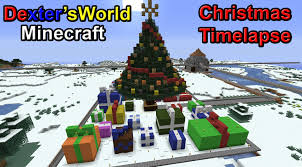 minecraft timelapse christmas tree youtube